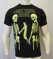"""GLOW IN THE DARK """"I GOT YOUR BACK"""" CREW NECK T-SHIRT SZ S BLACK VIC-THOR1"""