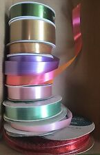 Lot of  VTG Ribbon Hallmark Gibson Satin Gold Green Pink Purple Red 361 ft