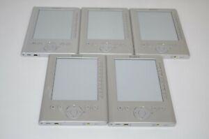 Lot of 5 Sony Reader Pocket Edition PRS 300 Digital eReader Silver