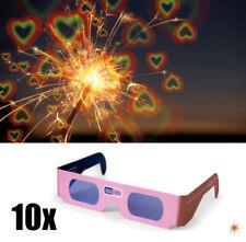 10x Rosabrille Herzen sehen Geschenk Partyspiel Hochzeit 3D Brille Herz