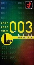 OKAMOTO 0.03 Polyurethane Condom Large Big Size ultra thin lubricate 10pcs JAPAN