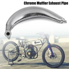 For 80cc 66cc 49cc Motorized Bicycle Engine Exhaust Muffler Pipe Chrome Banana