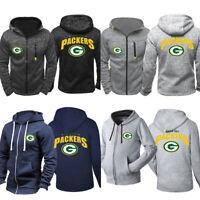 Green Bay Packers Hoodie Football Hooded Sweatshirt Fleece Jacket Gift For Fans
