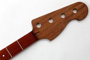 Padouk on Sapele J-Style Bass Custom Guitar Neck - USA Made
