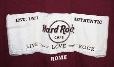 HRC Rome Italy Hard Rock Cafe Size XL T-shirt Live Love Rock maroon red