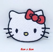 HELLO KITTY CHILDRENS CHARACTER EMBROIDERED APPLIQUÉ PATCH SEW OR IRON ON #467