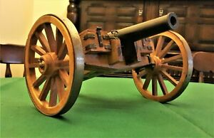 Vintage Large Artillery Model of a Field Cannon