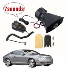 100W 12V Car Truck Alarm Police Fire Loud Speaker PA Siren Horn MIC System Kc