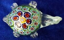 Turtle  Glass Ornament or Paperweight  - 3 cm high