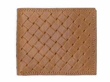 $75 TASSO ELBA MEN'S BROWN LEATHER DOUBLE BILLFOLD 6CC ID CREDIT CARD WALLET