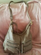 much loved large colorado taupe leather messenger bag