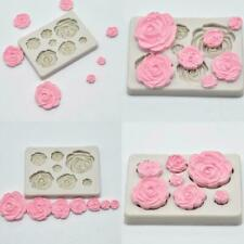 3D Rose Flower Silikon Fondant Schokoladenform Kuchen Mould Dekor Sugarcraf A9X8
