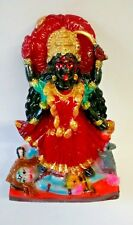 HINDU GODDESS KALI TEMPLE PAINTED STATUE, 6 INCHES