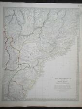 Hand Coloured c1845 Victorian SDUK Map of South America, Paraguay/Uruguay - 134