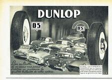 Publicité Advertising 108 1955   pneus Dunlop D5