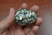 "Paua Abalone Shell Inlay Egg Decor Display 2"" #7860"