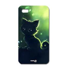 CUSTODIA COVER CASE GATTO CAT CARTOON NIGHT PER CELLULARE SMARTPHONE IPHONE 5C