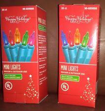 Indoor or Outdoor Multi Color Miniature Lights 2 Sets of 20 Lights