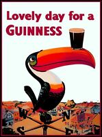 Lovely Day for a Guinness Beer Ireland Great Britain Vintage Travel Art Poster