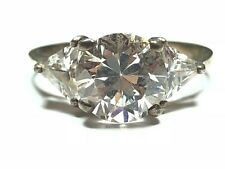 Gem - L@K! - Size 6.25 Elegant Ladies Sterling Silver Ring With Clear