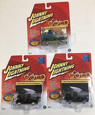Johnny Lightning Classic Gold lot of 3 Ford Mustang Dodge Challenger R/T 1/64