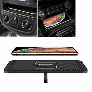 QI Wireless Car Phone Charger Fast Charging Pad Mat For Apple iPhone X Samsung