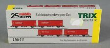 TRIX Minitrix 15544 [Spur N] 4-teiliges Wagen-Set Schiebewandwagen Railion,Cargo