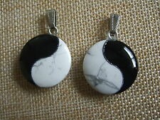 1 x High Quality Natural Stone Ying Yin Yang Fengshui Chinese Charms Pendant New