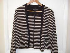 Ladies black Dorothy Perkins Striped Jacket. Size 18 UK