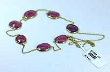 """Sale ~ Pink Sapphire """"By the Yard"""" 14K Gold Necklace $1440.00"""