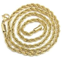 4mm Stainless Steel  Rope Chain Necklace Statement Swag  Stainless Steel