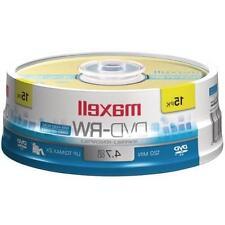 Maxell 635117  2x DVD-RW Media - 4.7GB - 15 Pack 15 JEWEL
