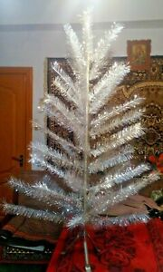 Vintage USSR artificial christmas tree. aluminum color 55in very rare.