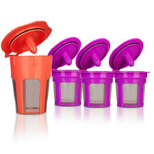 BRBHOM 3 Reusable K-Cup 1 K-Carafe Refillable Coffee Filter for Keurig 2.0 1.0