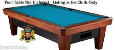 SIMONIS 760 CLOTH - 10' Set, Tournament Blue Pool Table Cloth - $25 Value added