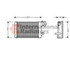 Van Wezel intercambiador, interior calefacción para VW Transporter III autobús Polo