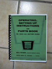 Oliver Tractor Bottom Plow Model 4340 instruction operating Setting up & Parts