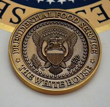 """TRUMP 2018 """"WHITE HOUSE MESS""""~PRESIDENTIAL FOOD SERVICE~U.S.NAVY CHALLENGE COIN"""