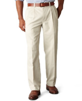 Men's Dockers Easy Fit Khaki Classic Fit Pleated Pants Marble Size 42 x 30