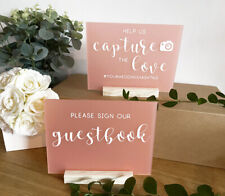 Wedding Acrylic A5 SIGNS 15 x 20 cm, cards gifts photography favours guestbook