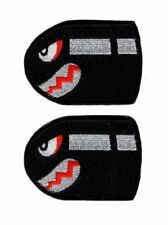 Angry Flying Bullet Bill Old School Retro Hook Patch (Bundle 2pc)