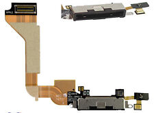 Genuine Black iPhone 4 Dock Assembly Mic Sync/Charging USB Flex Cable ORIGINAL