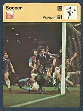 SPORTSCASTER-1978-EDITIONS RENCONTRE-EVERTON IN MATCH ACTION