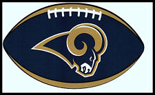 ST. LOUIS LA RAMS OVAL FOOTBALL NFL TEAM LOGO INDOOR STICKER FOR LAPTOP