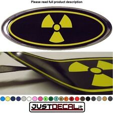 5x2 Radioactive overlay decal sticker zombie danger FITS specific ford emblems