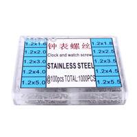 1000pcs 1.6-5.5mm Stainless Steel Screws Eyeglass Watch Repair Tool Kit Set