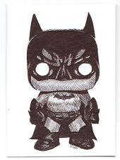 ACEO Ink Sketch Card Funko Pop Vinyl Batman