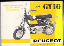 Catalogue pièces détachées - GTIO Peugeot - 1973