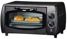 Mini Backofen 9 Liter Ofen mit Timer Doppel Glastür Minibackofen 1.000 W schwarz