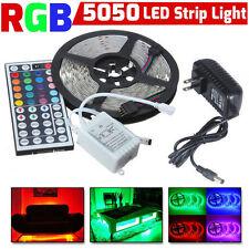 5M RGB 5050 non étanche bande lumière LED SMD + 44 Télécommande Clé + 12V